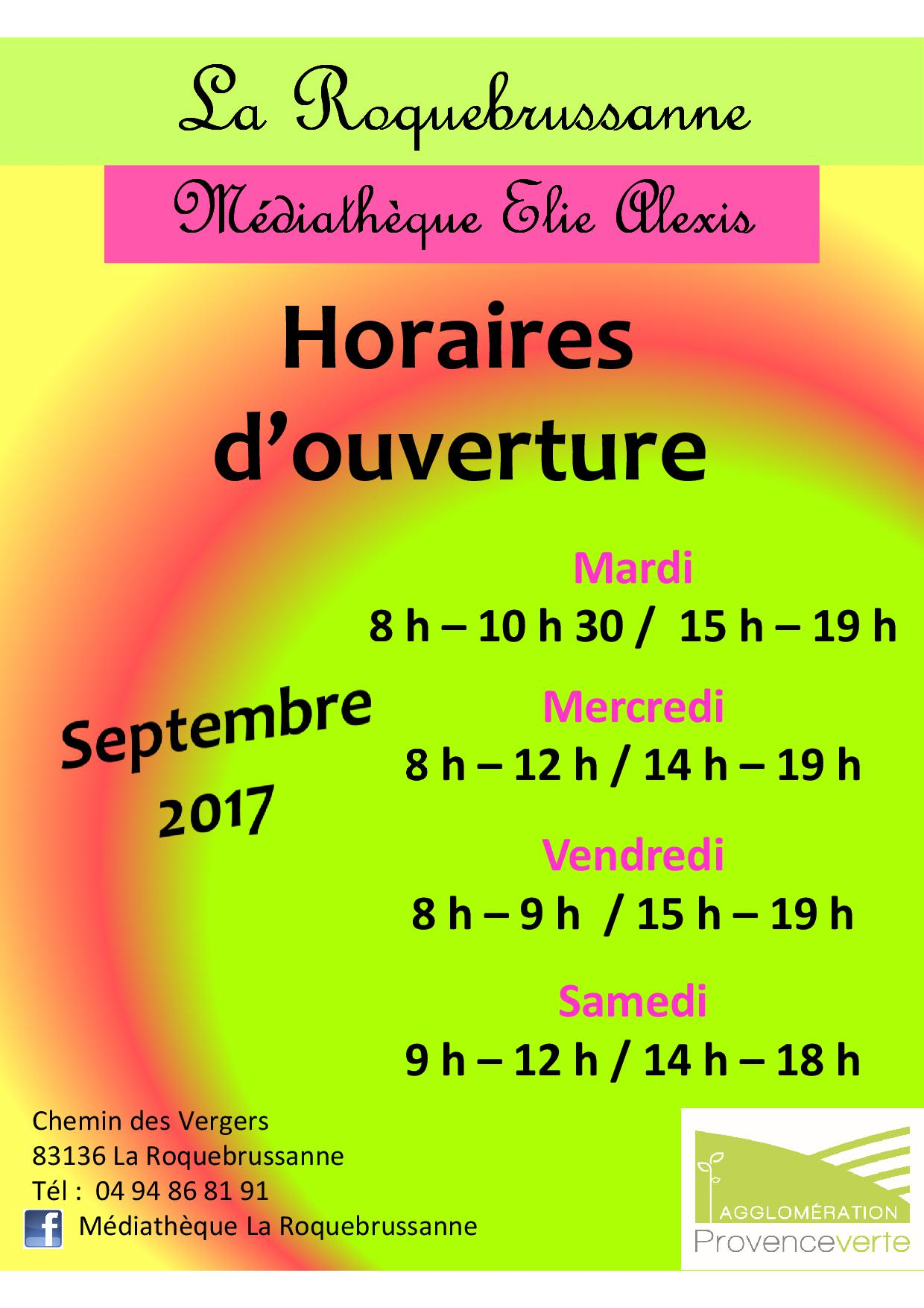 Horaires sept 20171