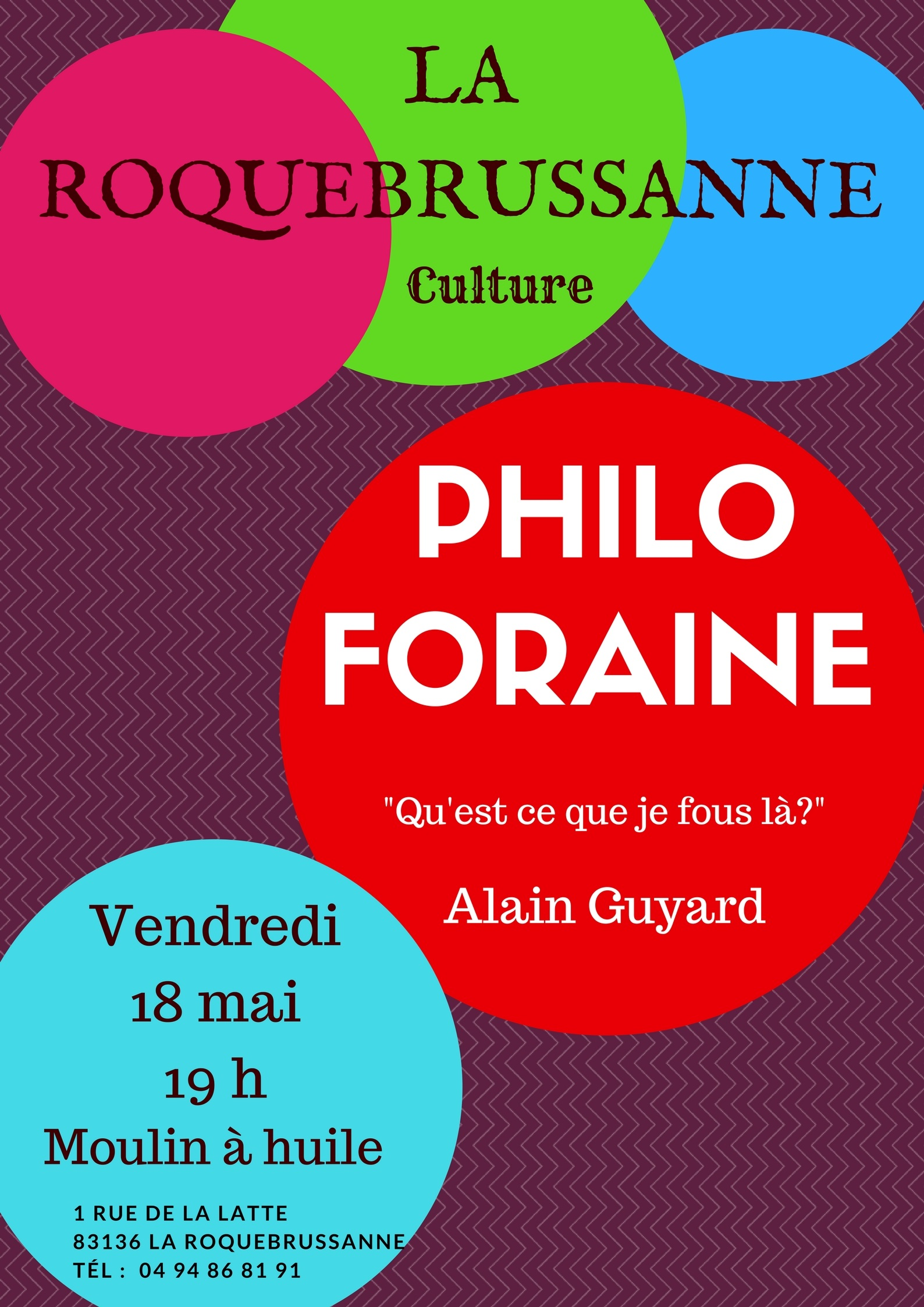 Philo foraine mai 18